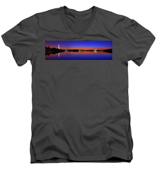 Tidal Basin Sunrise Men's V-Neck T-Shirt