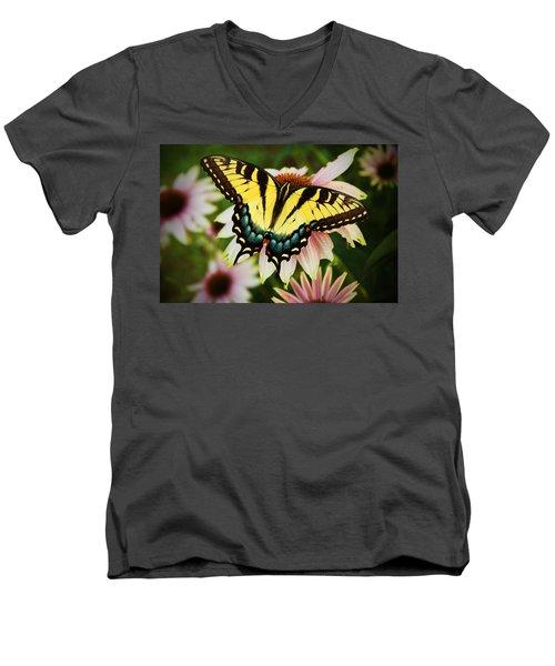 Tiger Swallowtail Butterfly Men's V-Neck T-Shirt