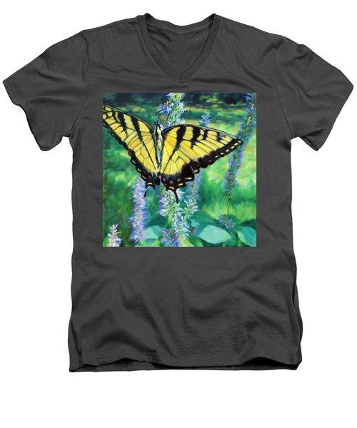 Tiger Swallowtail- Enjoying The Sweetness Men's V-Neck T-Shirt