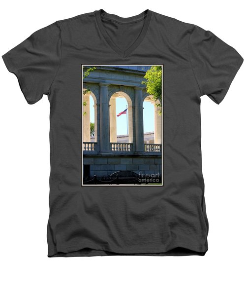 Men's V-Neck T-Shirt featuring the photograph Time To Reflect by Patti Whitten