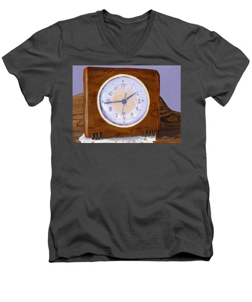 Men's V-Neck T-Shirt featuring the painting Time Will Tell by Lynne Reichhart