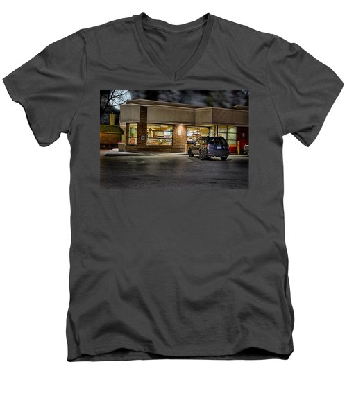 Timmy's At Night Men's V-Neck T-Shirt