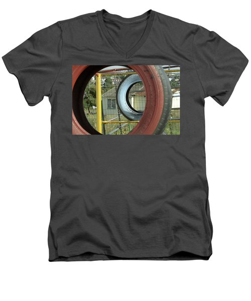 Tires In An Orphanage Men's V-Neck T-Shirt