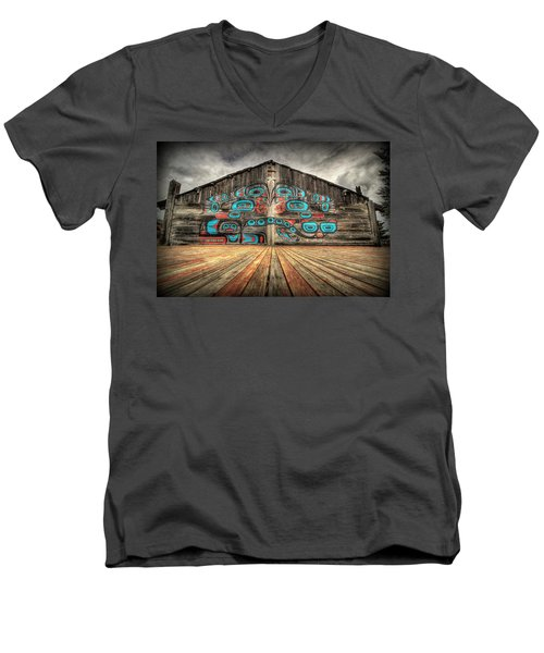 Tlingit Tribal House Haines Alaska Men's V-Neck T-Shirt