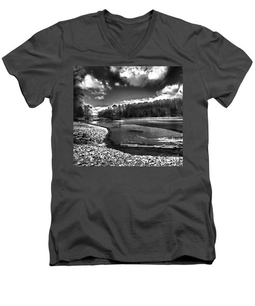 Men's V-Neck T-Shirt featuring the photograph To Grand Mother's House by Robert McCubbin