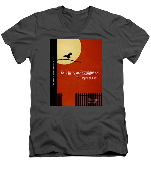 To Kill A Mockingbird Book Cover Movie Poster Art 1 Men's V-Neck T-Shirt by Nishanth Gopinathan