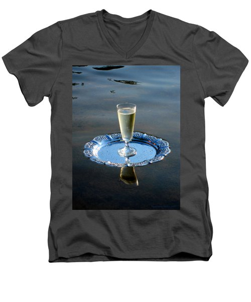 Toast To Life Men's V-Neck T-Shirt by Leena Pekkalainen