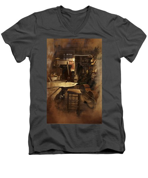 Tobacco Cello Men's V-Neck T-Shirt