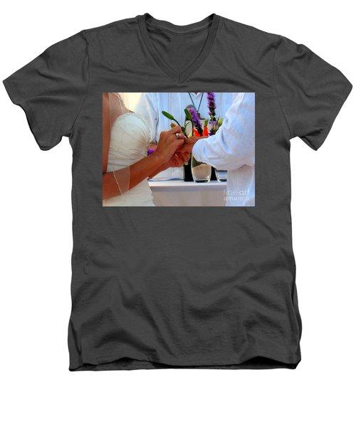 Token Of Love In The Islands Men's V-Neck T-Shirt by Patti Whitten