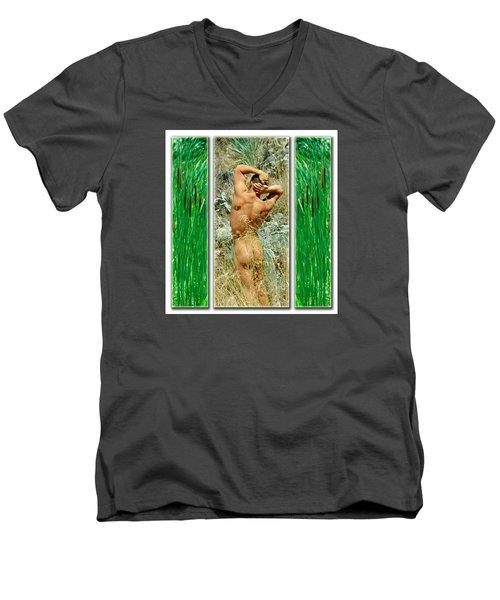Tom D. 7--2 Men's V-Neck T-Shirt by Andy Shomock