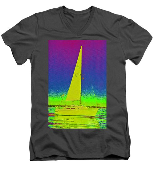 Tom Ray's Sailboat Men's V-Neck T-Shirt