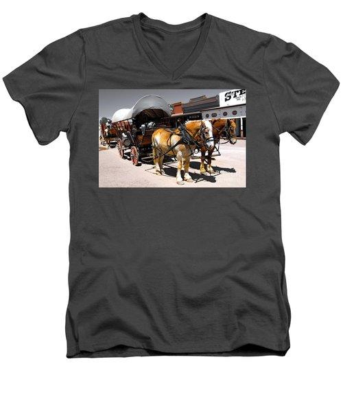 Tombstone Wagon Men's V-Neck T-Shirt