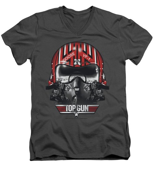 Top Gun - Goose Helmet Men's V-Neck T-Shirt by Brand A