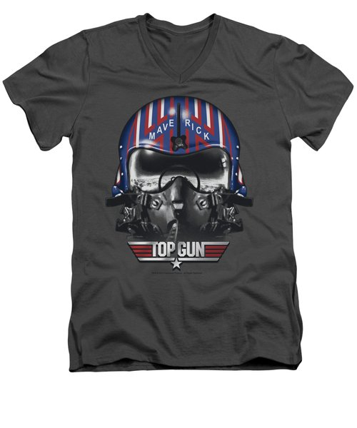 Top Gun - Maverick Helmet Men's V-Neck T-Shirt by Brand A