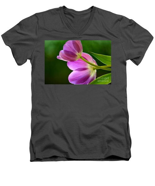 Topsy-turvy Tulips Men's V-Neck T-Shirt