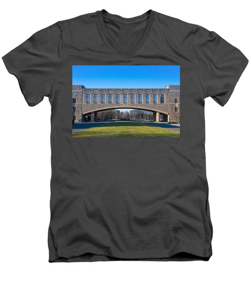 Torgersen Hall At Virginia Tech Men's V-Neck T-Shirt