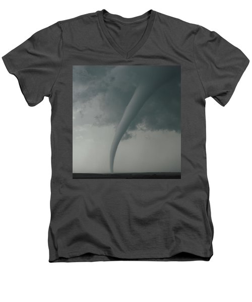 Tornado Country Men's V-Neck T-Shirt by Ed Sweeney