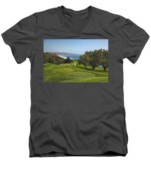 Torrey Pines Golf Course North 6th Hole Men's V-Neck T-Shirt