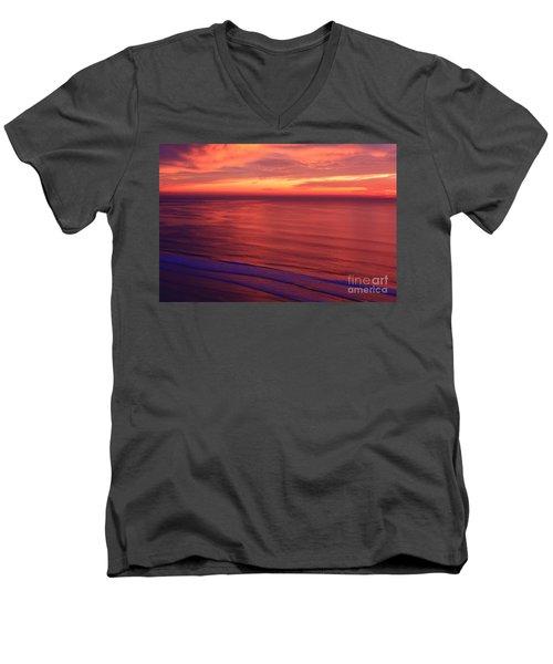 Men's V-Neck T-Shirt featuring the photograph Torrey Pines Twilight by John F Tsumas