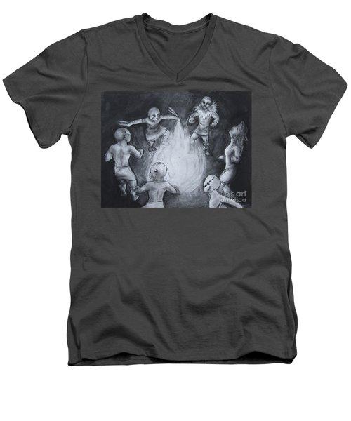 Totem Dancers - Channeling The Spirits Men's V-Neck T-Shirt