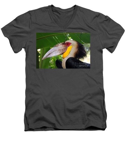 Men's V-Neck T-Shirt featuring the photograph Toucan by Sergey Lukashin