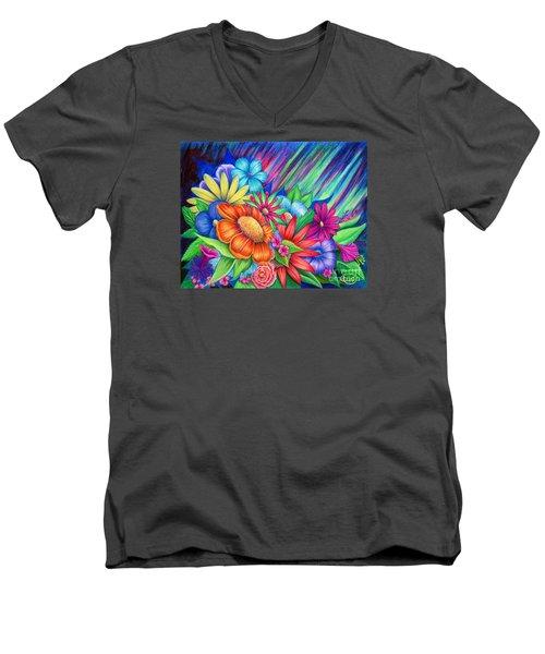 Toward The Light Men's V-Neck T-Shirt