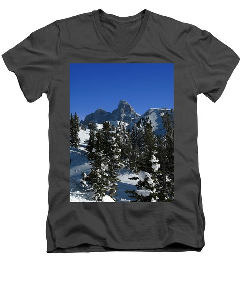 Men's V-Neck T-Shirt featuring the photograph Towering Above Lies The Grand by Raymond Salani III
