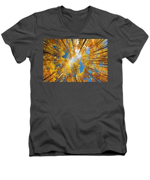 Towering Aspens Men's V-Neck T-Shirt