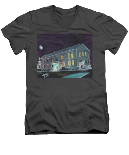 Town Hall At Night Men's V-Neck T-Shirt
