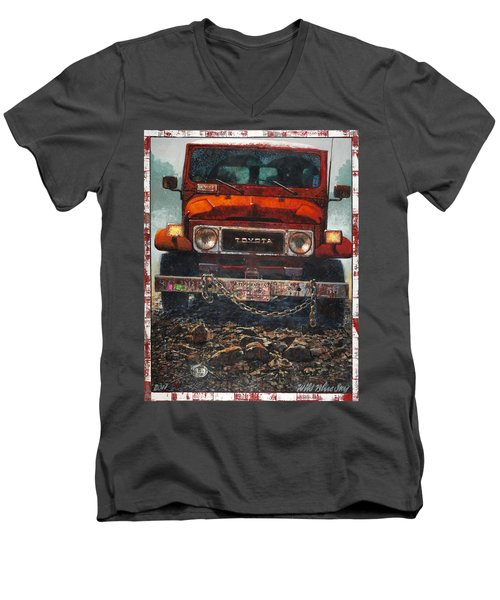 Toyota Men's V-Neck T-Shirt by Blue Sky