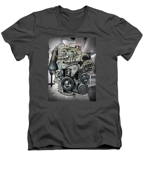 Toyota Engine Men's V-Neck T-Shirt