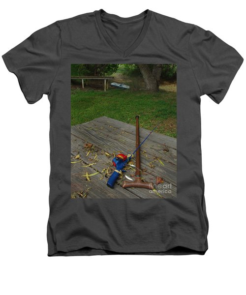 Men's V-Neck T-Shirt featuring the photograph Traditions Of Yesterday by Peter Piatt