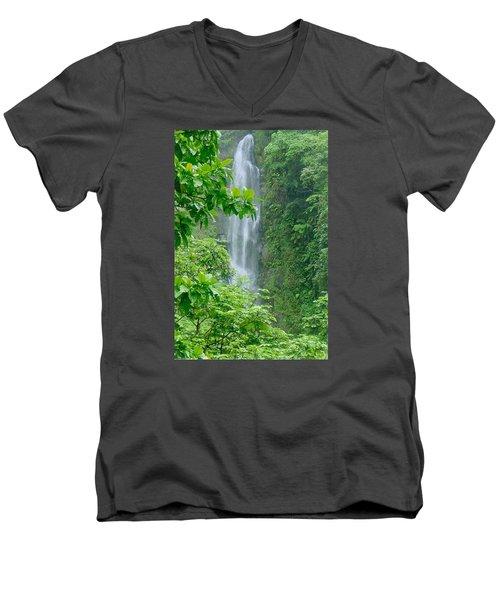 Trafalger Falls Men's V-Neck T-Shirt by Robert Nickologianis