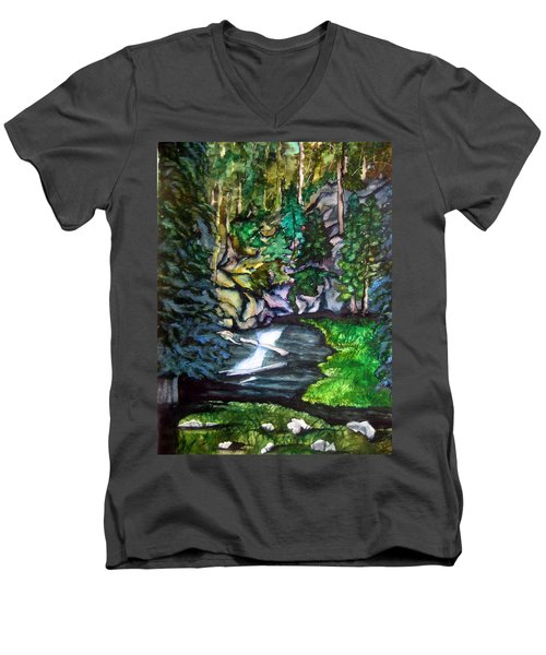 Trail To Broke-off Men's V-Neck T-Shirt by Lil Taylor