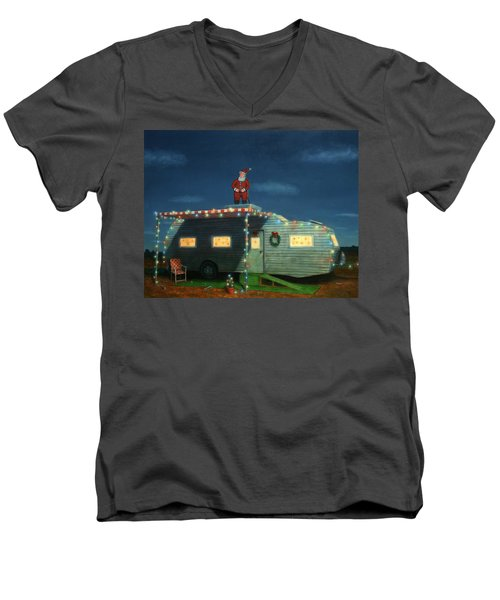 Trailer House Christmas Men's V-Neck T-Shirt