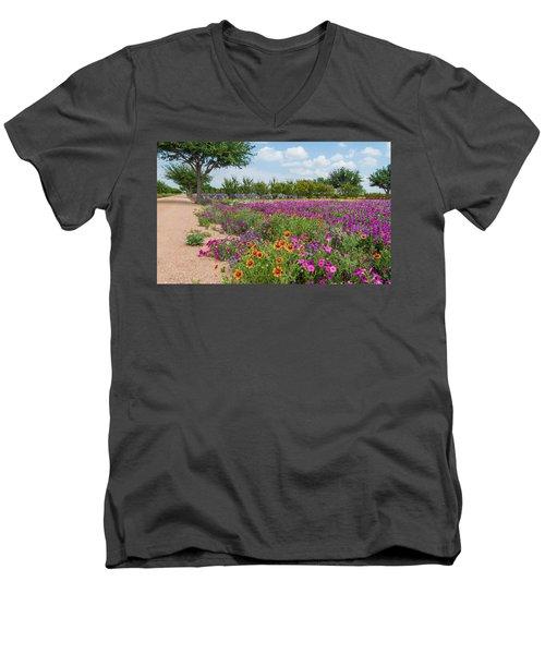 Trailing Beauty Men's V-Neck T-Shirt by Lynn Bauer