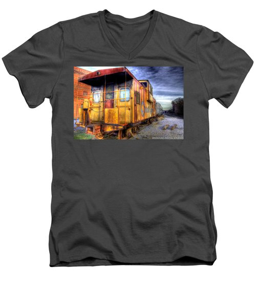 Train Caboose Men's V-Neck T-Shirt