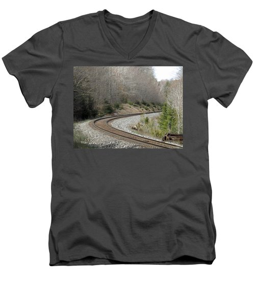 Train It Coming Around The Bend Men's V-Neck T-Shirt