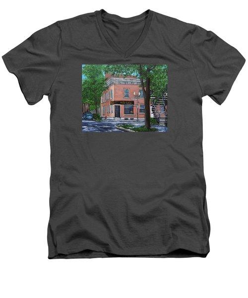 Traiteur Mesa Latina  Men's V-Neck T-Shirt by Reb Frost