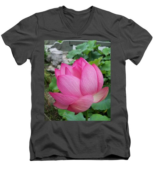 Tranquil Lotus  Men's V-Neck T-Shirt