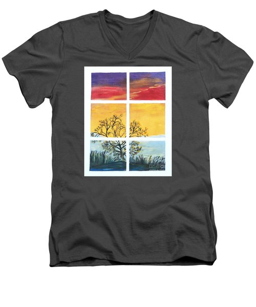 Tranquil View Men's V-Neck T-Shirt