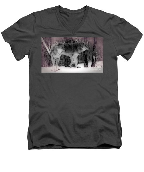 Men's V-Neck T-Shirt featuring the photograph Tranquility by Bianca Nadeau