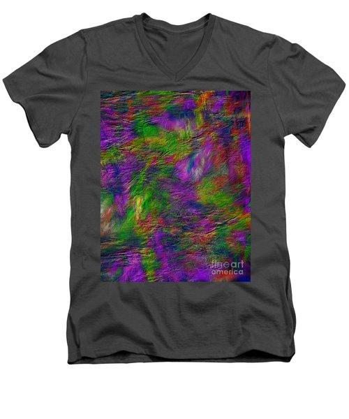 Tranquility In Oil Men's V-Neck T-Shirt