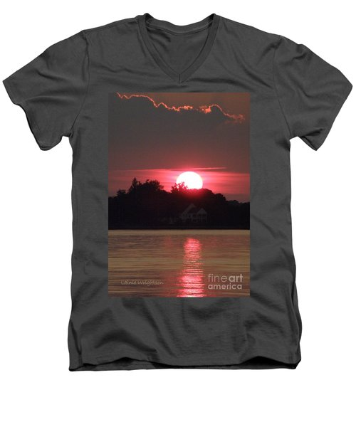 Tred Avon Sunset Men's V-Neck T-Shirt
