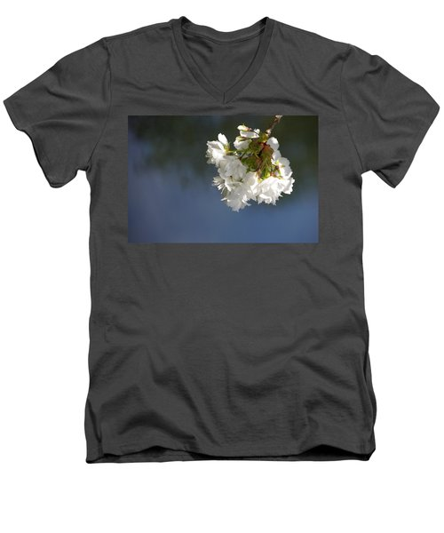 Men's V-Neck T-Shirt featuring the photograph Tree Blossoms by Marilyn Wilson