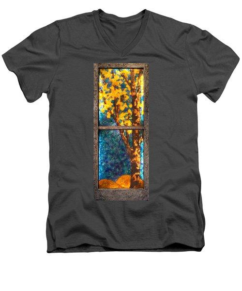 Tree Inside A Window Men's V-Neck T-Shirt
