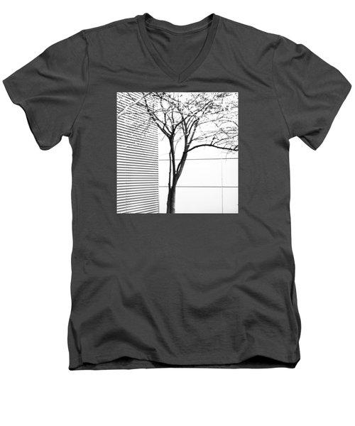 Tree Lines Men's V-Neck T-Shirt by Darryl Dalton