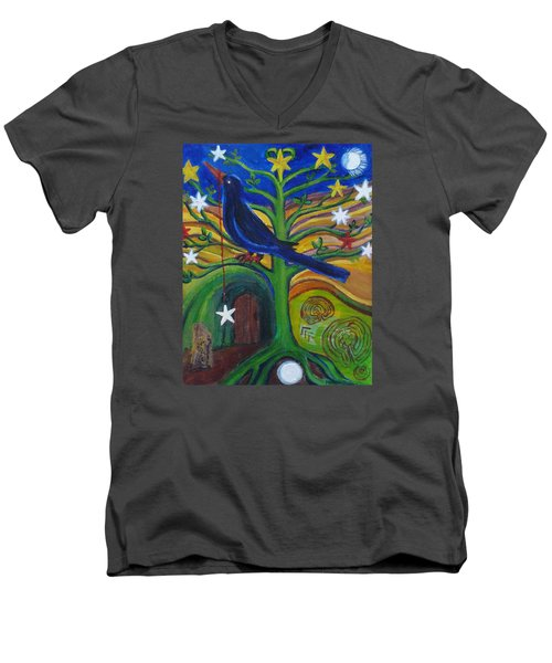 Tree Of Stars Men's V-Neck T-Shirt