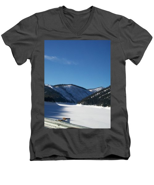 Men's V-Neck T-Shirt featuring the photograph Tree Shadows by Jewel Hengen