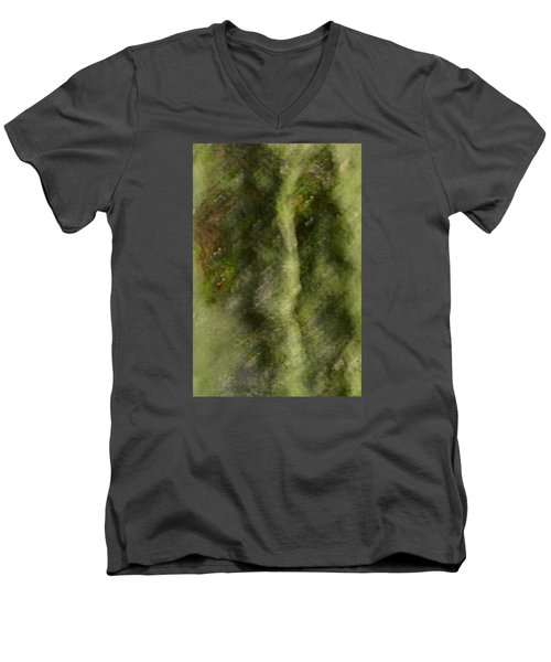 Men's V-Neck T-Shirt featuring the photograph Tree Man by Nadalyn Larsen